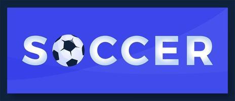 logotipo do futebol do futebol da palavra da tipografia do vetor. logotipo do esporte com equipamento para ilustração vetorial de design de impressão
