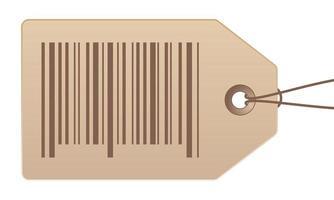 etiqueta de preço com código de barras em ilustração de estoque vetorial de fundo branco vetor