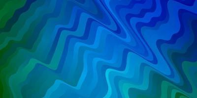 padrão de vetor azul e verde claro com curvas.