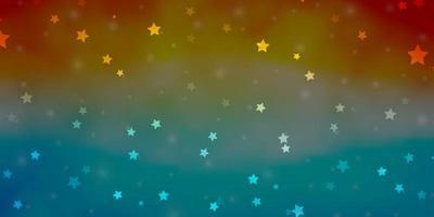modelo de vetor azul e vermelho claro com estrelas de néon.