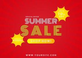 banner oferta especial de venda de verão vetor