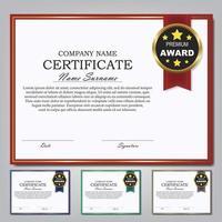 modelo de certificado ang prêmio diploma design plano de fundo. vetor