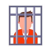um criminoso na prisão vetor