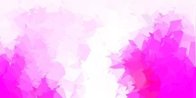cenário poligonal de vetor rosa claro.