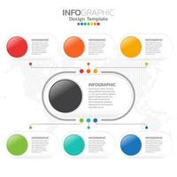 modelo de design de infográfico de gráfico de gestão plana. vetor