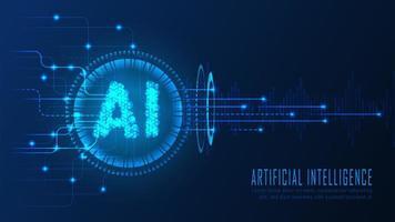 página de destino de análise de IA em estilo futurista