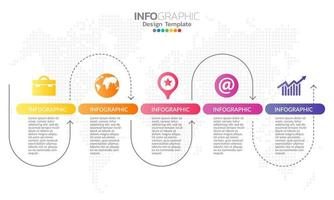 elementos de infográfico para conteúdo, diagrama, fluxograma, etapas, partes, linha do tempo, fluxo de trabalho, gráfico. vetor