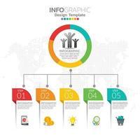 infográfico ilustração do conceito de seo infográficos com modelo de layout de negócios.