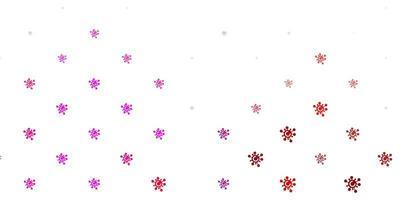 modelo de vetor roxo claro e rosa com sinais de gripe