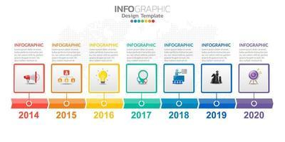 infográficos para o conceito de negócio com ícones e opções ou etapas. vetor