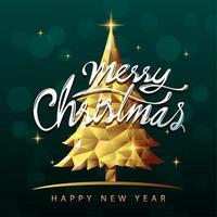 desenho de banner de texto feliz natal