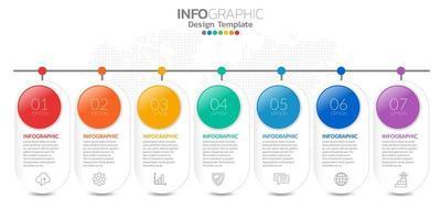infográficos para o conceito de negócio com ícones e opções ou etapas.