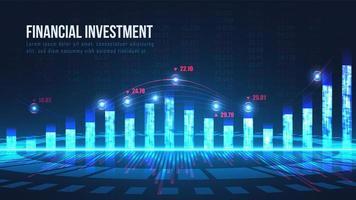 conceito gráfico de indicadores de mercado de ações vetor
