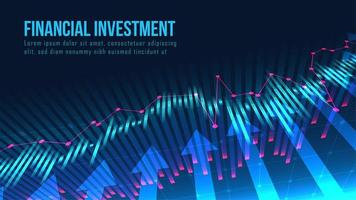 mercado de ações ou gráfico de negociação forex