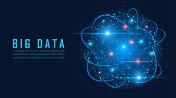 conceito de visualização de big data vetor