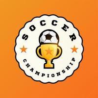 logotipo de vetor de futebol campeão 2020
