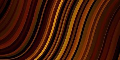 padrão de vetor laranja escuro com linhas curvas.