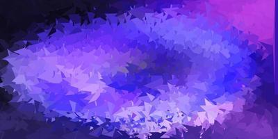 luz roxa padrão poligonal do vetor.