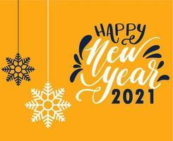 2021 feliz ano novo design vetor