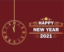 2021 feliz ano novo vetor
