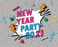 resumo 2021 feliz ano novo vetor