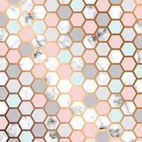 Vector design de textura de mármore com fundo de favo de mel