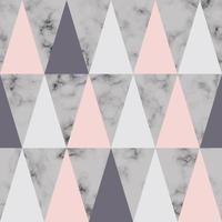 Vector design de textura de mármore com fundo luxuoso de triângulos