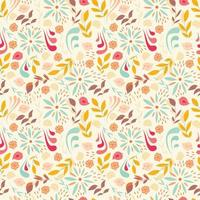 design de padrão sem emenda com pequenas flores, elementos florais, pássaros