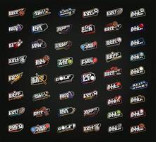 Conjunto de logotipo do Mega Bundle Sport