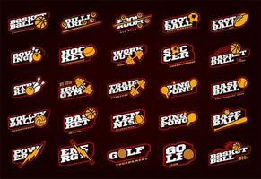 conjunto de logotipo do mega esporte