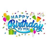 adesivo de feliz aniversário vetor