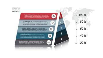 diagrama infográfico de pirâmide vetor