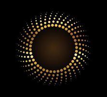 sinal de fluxo do círculo dourado vetor
