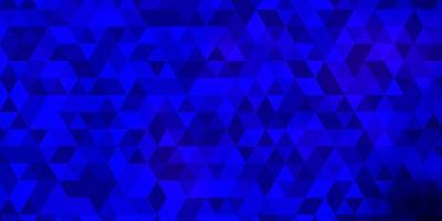 layout de vetor de azul escuro com linhas, triângulos.