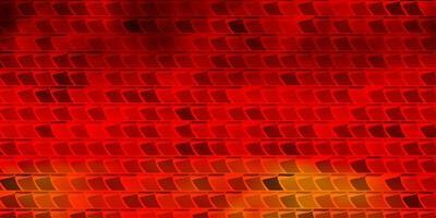 textura vector laranja escuro em estilo retangular.