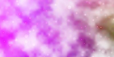 fundo vector rosa claro, verde com estrelas pequenas e grandes