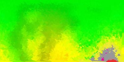 design de polígono gradiente de vetor verde escuro e amarelo.
