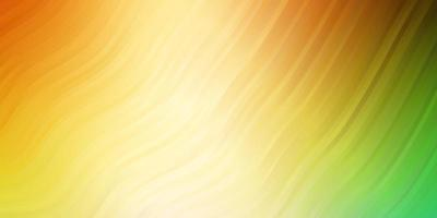 layout de vetor multicolor de luz com curvas.