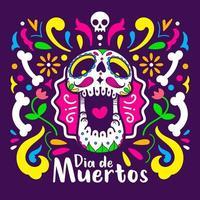 ilustração do pôster do dia de los muertos
