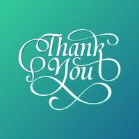 decorativo, obrigado, tipografia, vetor livre