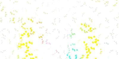 modelo de vetor multicolor de luz com formas abstratas.