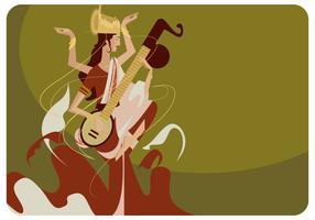Vector da ilustração de Saraswathi