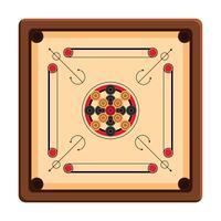 jogo de tabuleiro carrom vetor