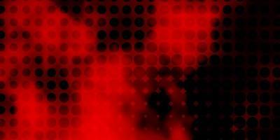 layout de vetor vermelho escuro com formas de círculo.