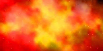 textura vector laranja escuro com belas estrelas.
