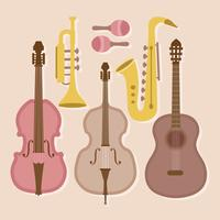 Instrumentos musicais de vetores