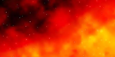 padrão de vetor laranja claro com estrelas abstratas.