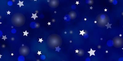 modelo de vetor azul claro com círculos, estrelas.