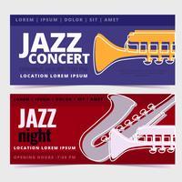 Banners de concertos de jazz vetorial vetor