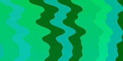pano de fundo de vetor verde claro com curvas.